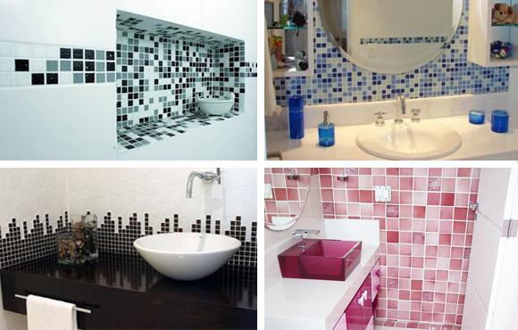 Banheiros Decorados Com Pastilhas De Vidro Vermelhas Pictures to pin on Pinte -> Decoracao De Banheiro Com Pastilhas Vermelhas